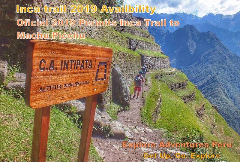 inca trail hiking availability 2019