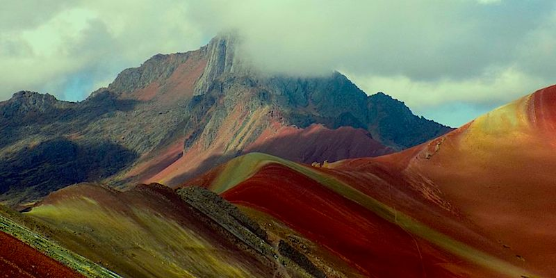 Rainbow mountain Inca Trail Machupicchu